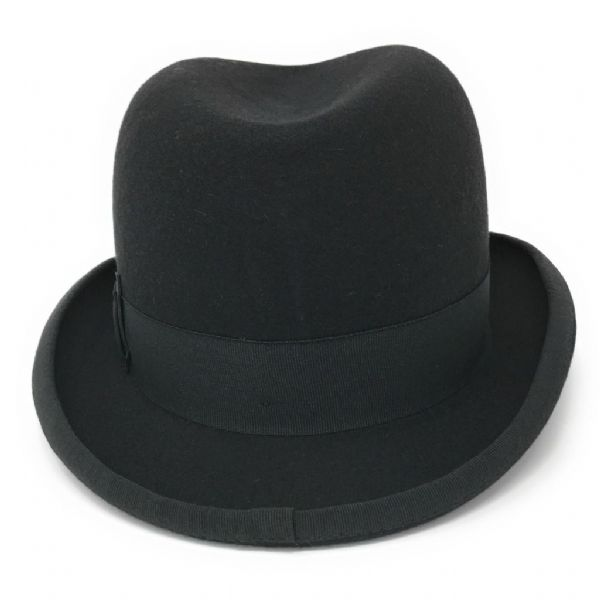 Homburg Hat - Wool - Black